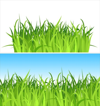 two grass backgrounds  vector Contains the separated layers
