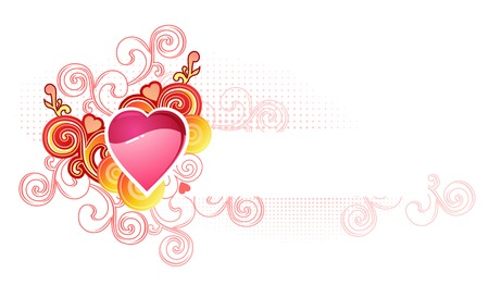 love heart with space for your text /  valentine and wedding /  vector Stock Vector - 2387860