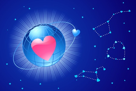 global love  valentines or wedding  vectorLayers are separated Vector