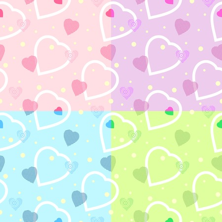 seamless heart pattern for your backgrounds  vector Vector