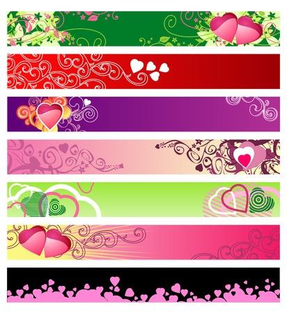 inmejorablemente: amor y corazones sitio web banners  vector  ideal para usted el uso