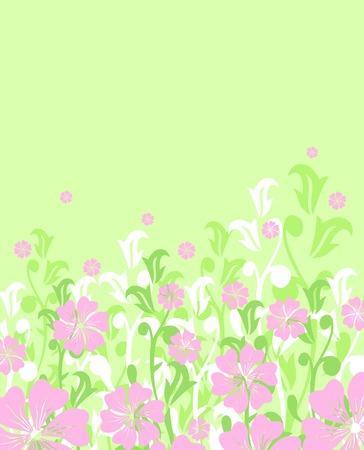 floral spring or summer background  vector Vector