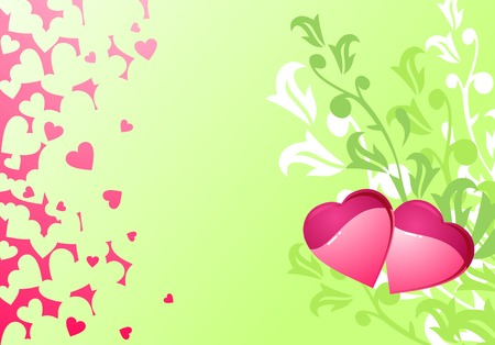 Love hearts and background / valentine's or wedding / vector illustration Stock Vector - 2460065