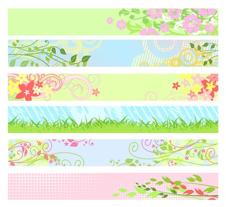 vector banners: Spring floral website banners  vector  for your web-site