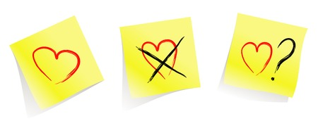 love / dont't  love / do you love me?  / yellow pages / vector Stock Vector - 2527263