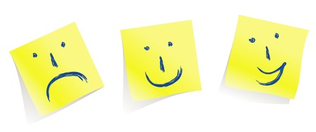 yellow pages: emotional  faces :-)  :-(  :-Dmemory yellow pages  vectorMake mood!