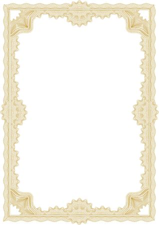 Classic guilloche border for diploma or certificate / A4 Stock Photo - 2527266