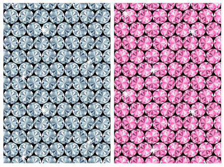 diamond seamless pattern  vector  2 colour variants Vector