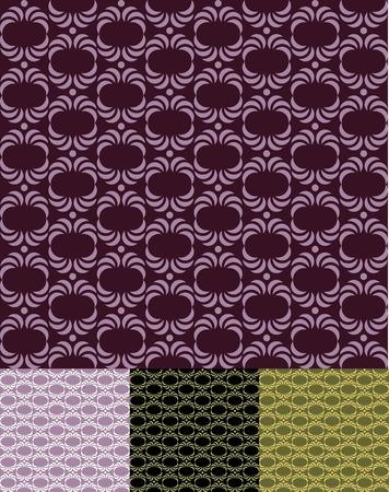 retro seamless pattern  wallpaper  vector Vector