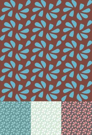 retro seamless pattern  vector background Vector