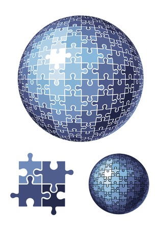 puzzle sphere  vector illustration Vector