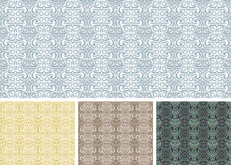 vintage seamless pattern  vector background Vector
