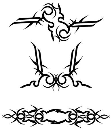 tribal tattoo designs  vector illustration Illustration