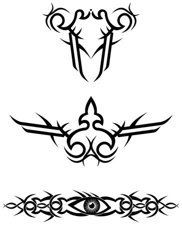 tribal tattoo designs  vector illustration Vector