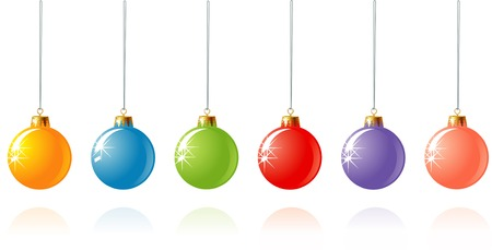 Christmas decoration in different colors  vector  Vector