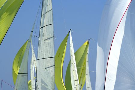 Sailing in Good Wind  sails background  spinnakers