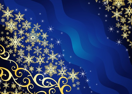 Christmas   with snowflakes and ornament  vector Vector