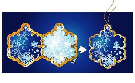 Christmas Gift Tag  vector  simple use: print and cut! Vector