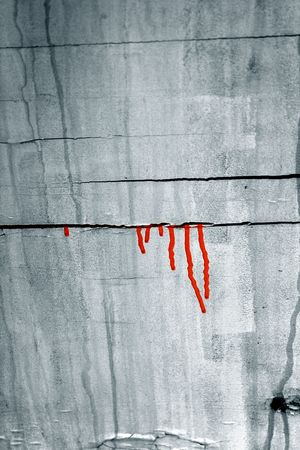 grunge wall / background / stains of a  paint / ideally for your use in design Stock Photo - 4310120