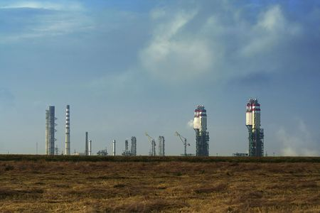 plant process petroleum / refinery complex / Ukraine Stock Photo - 4335415