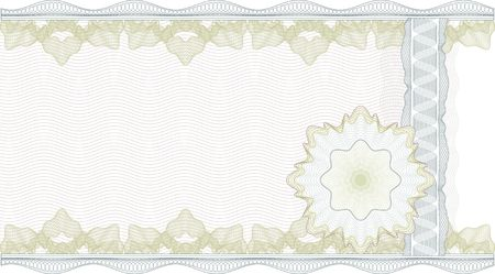 credential: Classic guilloche border for diploma or certificate. CMYK Layers are separated!
