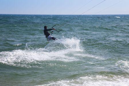 kite surfer  riding the waves  Black Sea photo