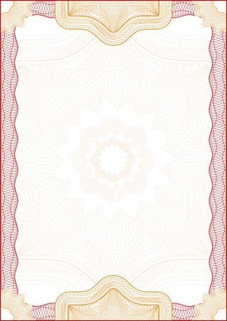 watermarks: Classic guilloche border for diploma or certificate  vector