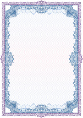 Classic guilloche border for diploma or certificate / vector Stock Vector - 5304793