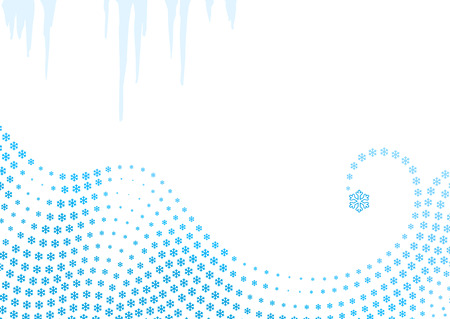 Winter background  snowflakes swirl  vector Vector