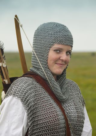 bows woman / medieval armor / historical story Stock Photo - 5334280