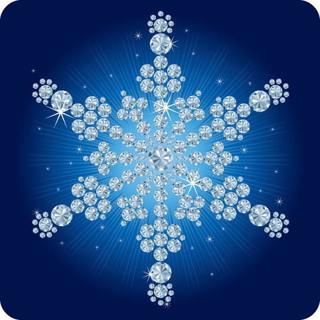 Christmas Diamond snowflake  vector illustration Vector
