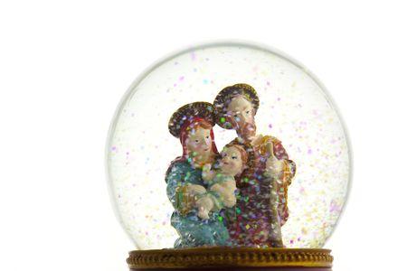 mother of jesus: Nativity scene  snow globe