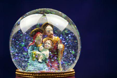 Nativity scene / snow globe Stock Photo - 5918193