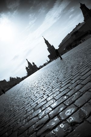 Red Square   Moscow Kremlin   dramatic silhouettes photo