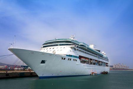 luxury white cruise ship  summer travel photo