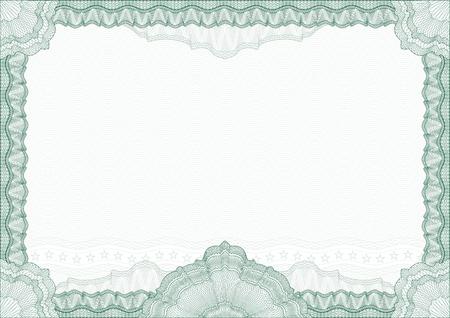 diploma: Borde de l�neas entrecruzadas cl�sico de diploma o certificado