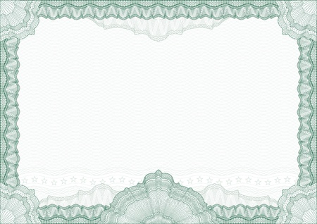 Classic guilloche border for diploma or certificate Vector