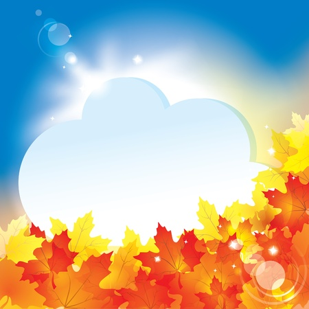 Autumn background with leaves and copy space for your text / eps10 Stock Vector - 10514105