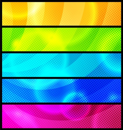 Set of five abstract  banners  modern backgrounds Stock Vector - 10822770