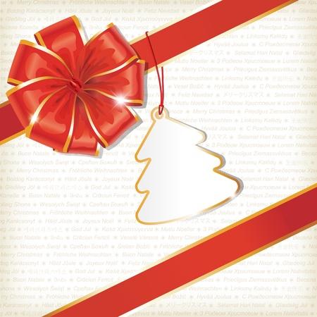 wraps: Fondo de Navidad con etiqueta vac�a y texto
