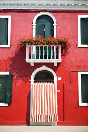 red door: Front door of Home  Old European House  Italy