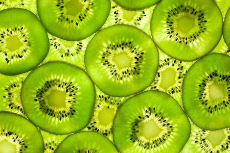 Fresh Kiwi pattern  background  back lit photo