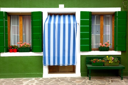 Front door of Home / Old European House / Italy Stock Photo - 12894029