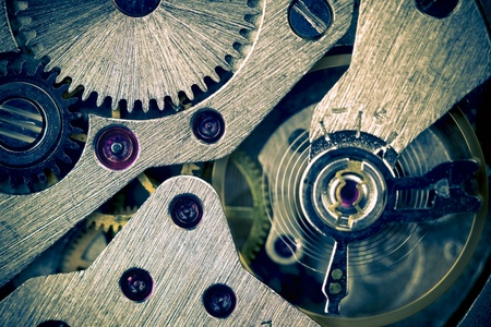 Macro Mechanical Gear Background / Horizontal / split toting photo