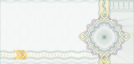 Secured Guilloche Background for Gift Certificate, Coupon or Banknote   elements are in layers for easy editing Vector