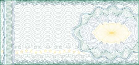 coupon: Guillochenuntergrunddruck f�r Gutschein, Geschenkgutschein, Gutschein oder Geldschein Schichten werden f�r die einfache Bearbeitung einbezogen