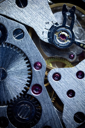 Macro Mechanical Gear   Clockwork  Background   Vertical photo