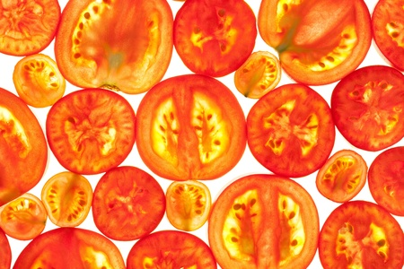 Abstract Background of Red Tomato Slices / Fresh Organic Food Stock Photo - 15474949