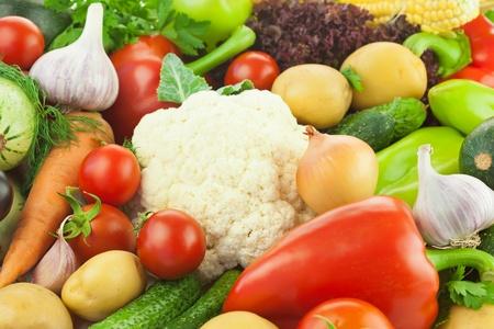 Frische gesunde Gemüse  Big Assortiment  Essen Hintergrund