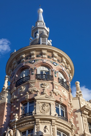 Madrid, Spain   beautiful historical building, Old architecture in the city center photo